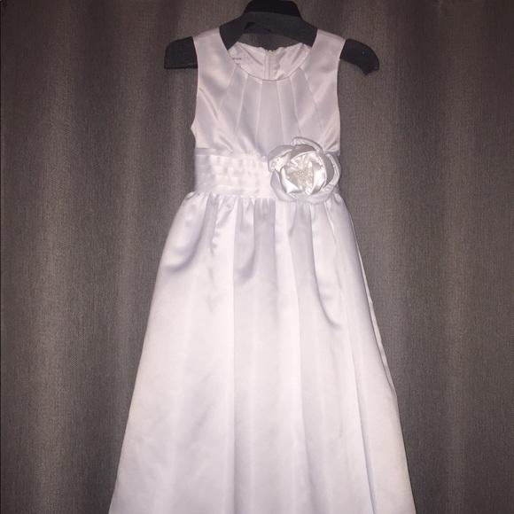 145a3ff892b2 Bonnie Jean Dresses   White Girls Size 8 First Communion Dress ...